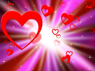 Brightness Hearts Background Shows Lover Partner Or Special.