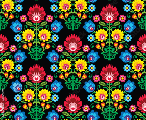 jednolity-wzor-kwiatowy-polskiej-sztuki-ludowej-wzory-lowickie