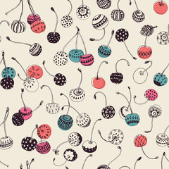 Hipster Cherry Pattern