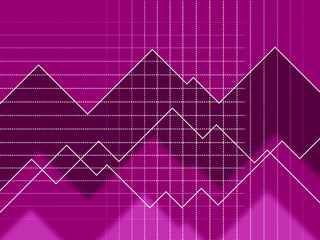 Purple Spikes Background Means Peaks And Jagged Lines.