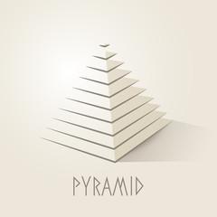 Pyramid shape abstract symbol