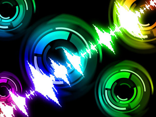Sound Wave Background Means Audio Mixer Or Beats Pattern.