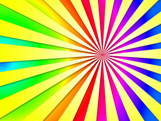 Colourful Dizzy Striped Tunnel Background Shows Dizzy Illustrati