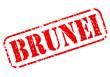 Постер, плакат: Brunei red stamp text