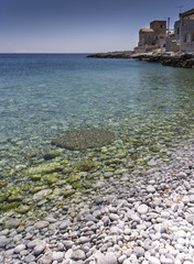 little beach in a creek of Peloponnese