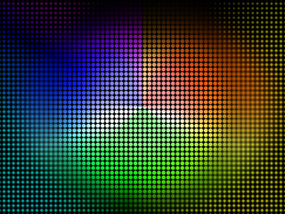 Color Wheel Background Shows Coloring Shade And Pigment.