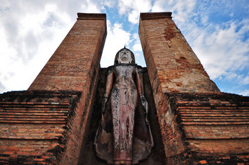 Beautiful Buddha in temple Ayutthaya Thailand
