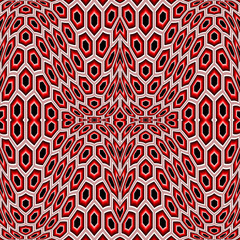 Design seamless distorted hexagon geometric pattern
