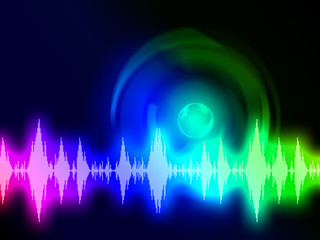 Sound Wave Background Shows Audio Spectrum Or Energy.