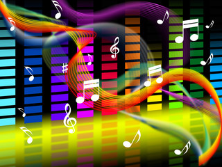 Music Background Shows Tune Jazz Or Classical.