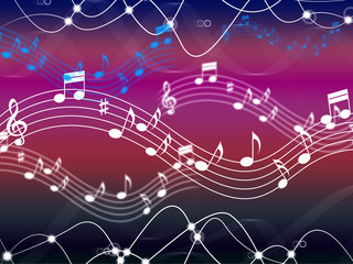 Music Background Shows Musical Song And Harmony.