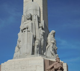 "Sculptural group ""Latvia"" (Freedom monument, Riga, Latvia)"