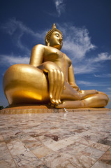 The Big beautiful Buddha at Wat Muang Temple