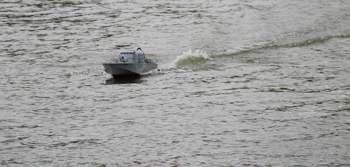 A Radio Controlled Model of a Small Military Boat.