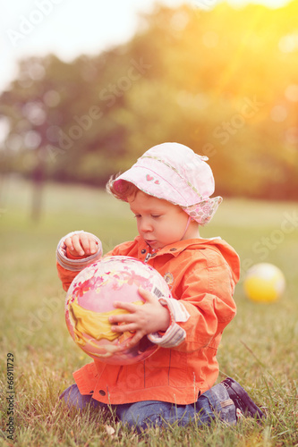 canvas print picture little girl