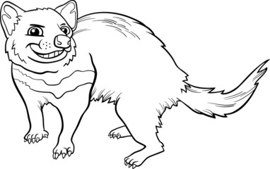 tasmanian devil cartoon coloring page