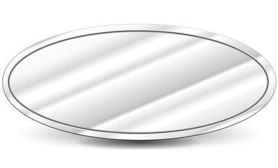 Vector metal oval background