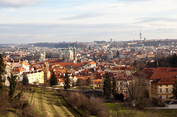 Virtual tour of Prague. Czech Republic.