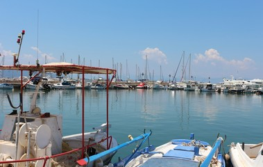 Aegina's port, Greece