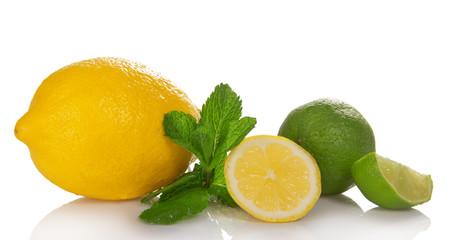 Big yellow lemon, lime and the mint