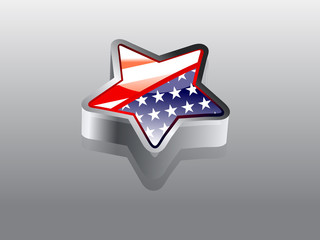 3d Star Shape Amercian flag