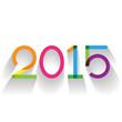 Creative text 2015 in flat design