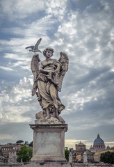 Sculpture of angel with Veronica's Veil, Sant'Angelo bridge,