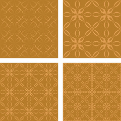 Bronze seamless pattern background set