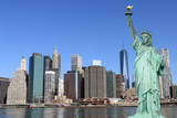 Manhattan Skyline and The Statue of Liberty - 66914702