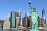 Manhattan Skyline and The Statue of Liberty - 66914723