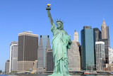 Manhattan and The Statue of Liberty, New York City - 66914743