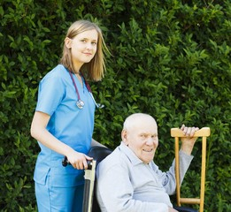 Professional Help for Elderly in Wheelchair