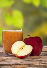 Fresh apple juice, healthy drinks.