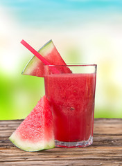 Fresh water melon juice, healthy drink.