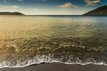 solitary beach in peloponnese