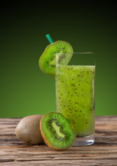Fresh kiwi juice, healthy drink.