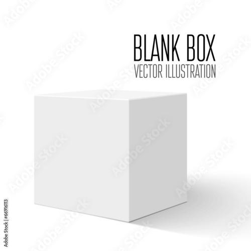 White blank box - 66916113