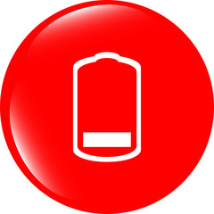 Battery low level sign icon. Electricity symbol. website
