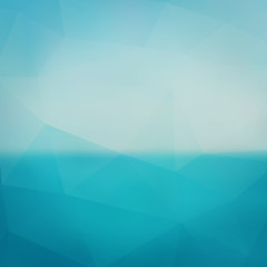 Triangle sea abstract blurred background