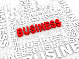 What is a business. The concept of the words on white