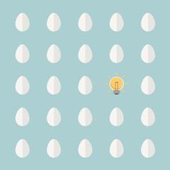 light bulb different from egg
