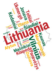 Lithuania map and cities