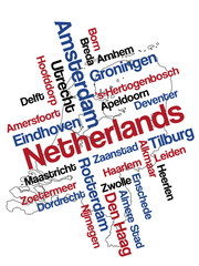 Netherlands map and cities