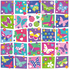 butterflies collection pattern
