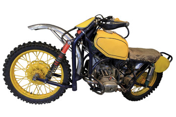 old yellow sport bike