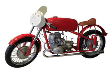 old red sport bike
