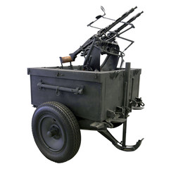 mobile anti-aircraft machine gun installation