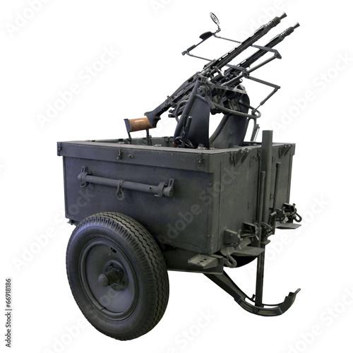 Poster mobile anti-aircraft machine gun installation