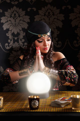 Portrait of a beautiful fortune-teller