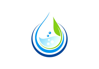 eco water vector logo